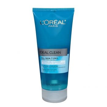 L'Oreal Paris Ideal Clean All Skin Types Foaming Gel Cleanser  Очищающий пенящийся гель для лица Идеальная чистота 200 мл