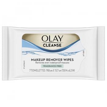 Olay Cleanse Makeup Remover Wipes, Fragrance Free Салфетки для снятия макияжа, без отдушек, 7 шт.