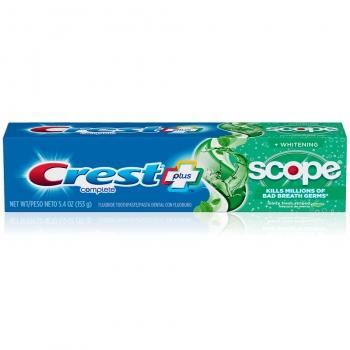 "Crest Complete Whitening Plus Scope Minty Fresh Toothpaste Отбеливающая зубная паста ""Мятная свежесть"" 153 г"