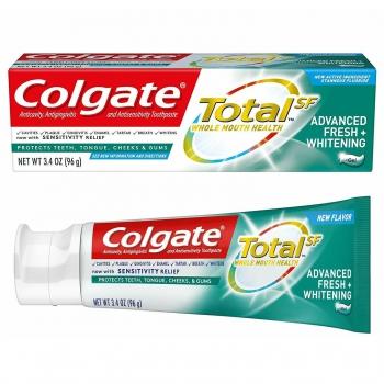 Colgate Total SF Advanced Fresh + Whitening Gel Toothpaste Отбеливающая зубная паста-гель 96 г
