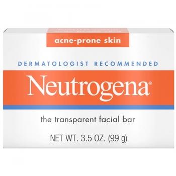 Neutrogena Facial Cleansing Bar Acne-Prone Skin Прозрачное мыло для кожи лица, склонной к акне 99 г