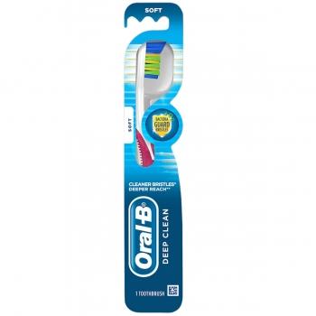 Oral-B Deep Clean Manual Toothbrushes Soft Зубная щетка мягкая, ярко-розовая