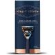 King C Gillette Men's 5 Blade Shave & Edging Razor Navy Handle + 2 Blade Refills Мужская бритва с двумя сменными кассетами