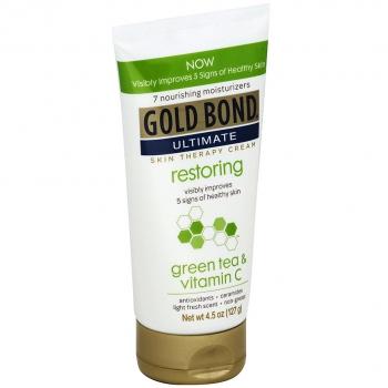 Gold Bond Ultimate Restoring Skin Therapy Cream with Green Tea & Vitamin C  Восстанавливающий крем для кожи с зеленым чаем и витамином С 127 г