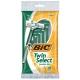 BIC Twin Select Sensitive Skin Disposable Razor Мужские одноразовые станки для бритья, 10 шт.