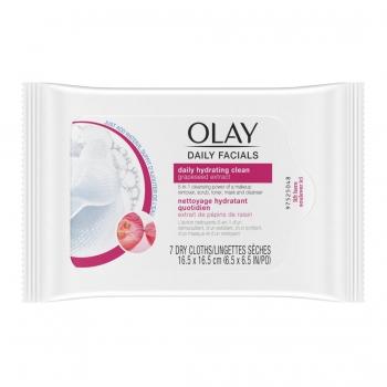 Olay Daily Facials Hydrating Cleansing Cloths Увлажняющие очищающие салфетки для лица, 7 шт.