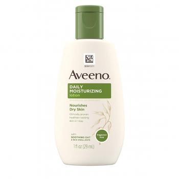 Aveeno Daily Moisturizing Lotion Fragrance Free Ежедневный увлажняющий лосьон без отдушек для сухой кожи 29 мл (миниатюра)