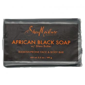 Shea Moisture African Black Soap Face & Body Bar Очищающее черное мыло для проблемной кожи лица и тела 99 г