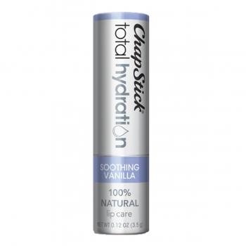 ChapStick Total Hydration 100% Natural Lip Care Soothing Vanilla Натуральный бальзам для губ Ваниль 3.5 г