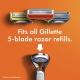 Gillette Fusion5 Men's Razor Handle + 2 Blade Refills Мужская бритва с двумя сменными кассетами