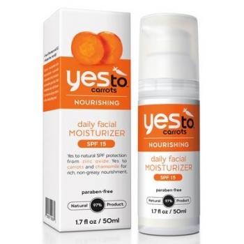 Yes To Carrots Daily Facial Moisturizer with SPF 15  Дневной увлажняющий крем для лица с защитой от ультрафиолета 50 мл