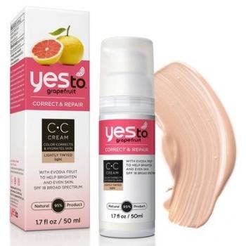 Yes To Grapefruit CC Cream  Light  Корректирующий увлажняющий крем (светлый) 50 мл