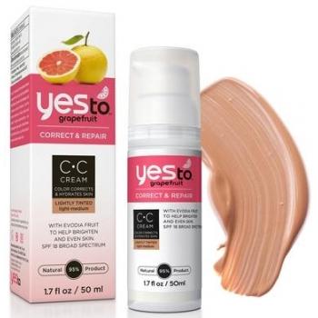 Yes To Grapefruit CC Cream  Light / Medium  Корректирующий увлажняющий крем (средний) 50 мл